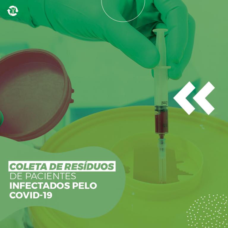 Coleta de resíduos de pacientes infectados pelo COVID-19