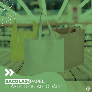 Sacolas: papel, plástico ou algodão?