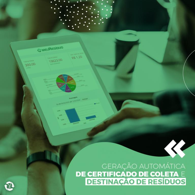 Geração automática de certificado de coleta e destinação de resíduos