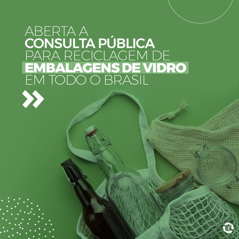 Aberta a consulta pública para reciclagem de embalagens de vidro em todo o Brasil
