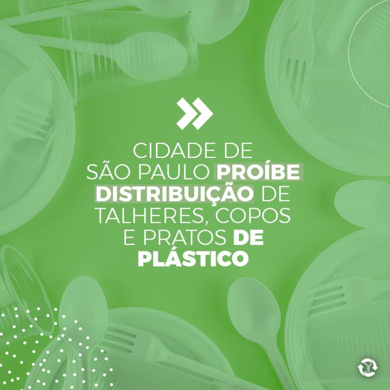 Cidade de São Paulo proíbe distribuição de talheres, copos e pratos de plástico