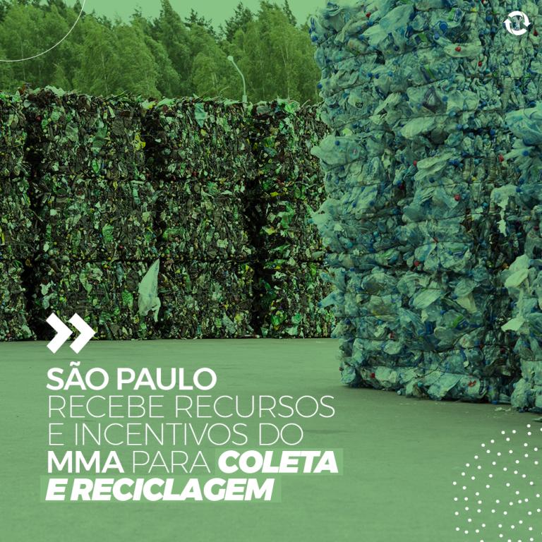 São Paulo recebe recursos e incentivos do MMA para coleta e reciclagem
