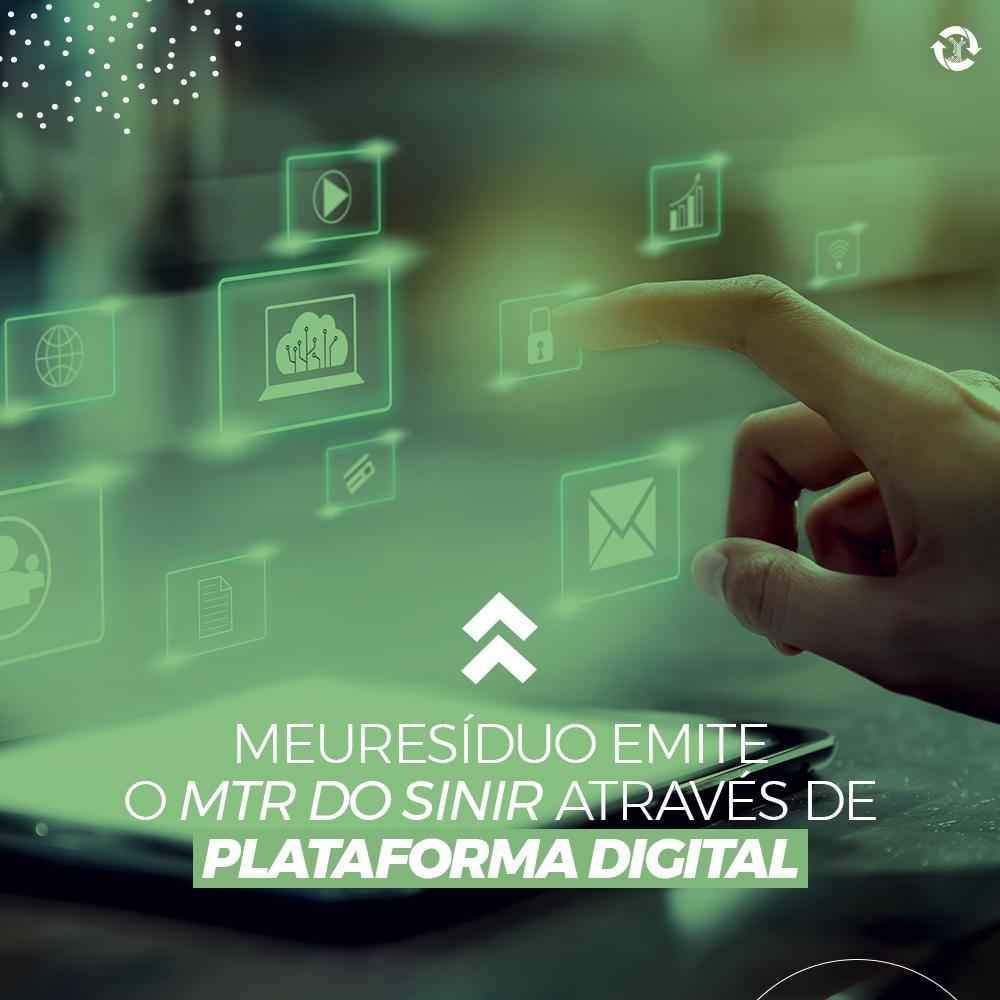 meuResíduo emite o MTR do SINIR através de plataforma digital