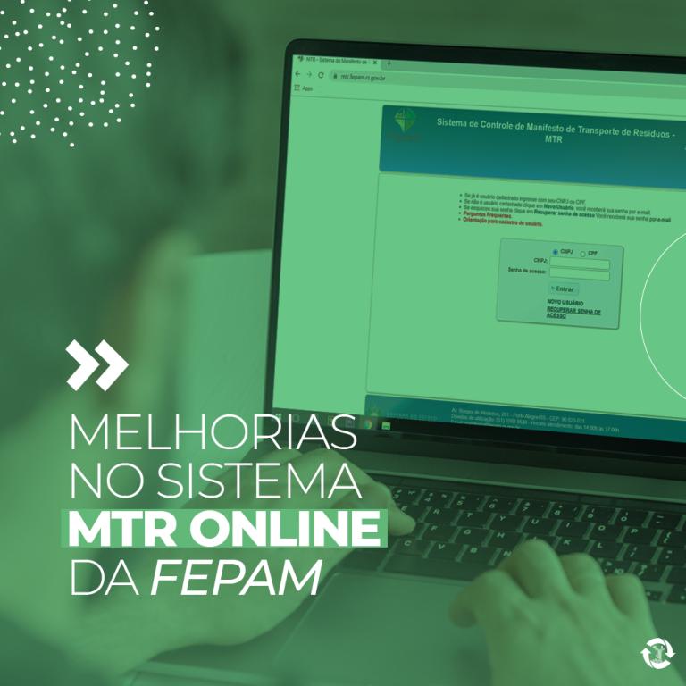 Melhorias no Sistema MTR Online da Fepam