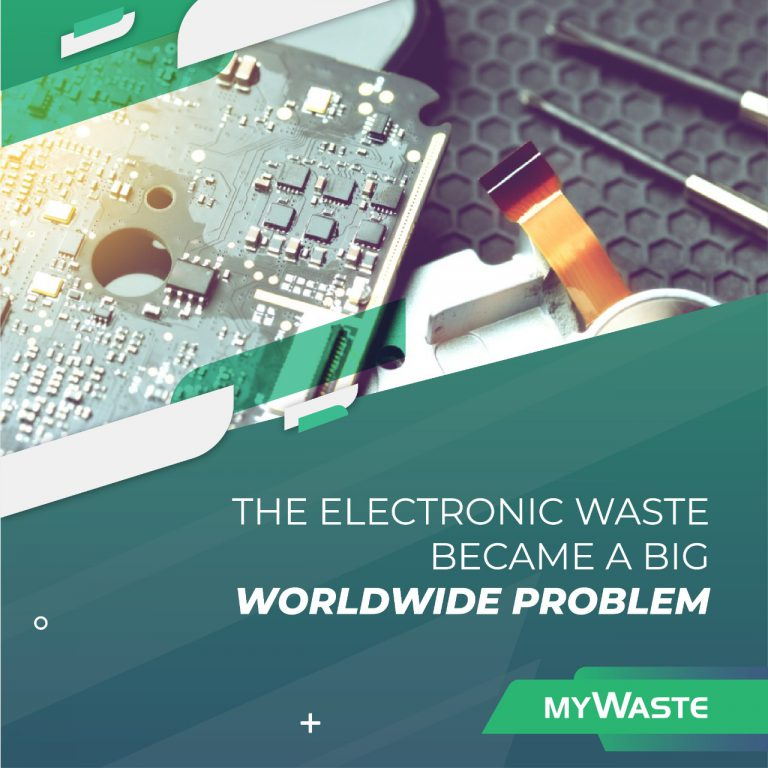 The electronic waste became a big worldwide problem
