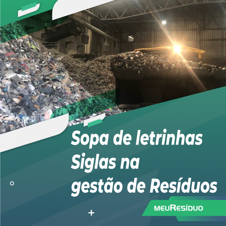 Sopa de letrinhas - Siglas na gestão de Resíduos