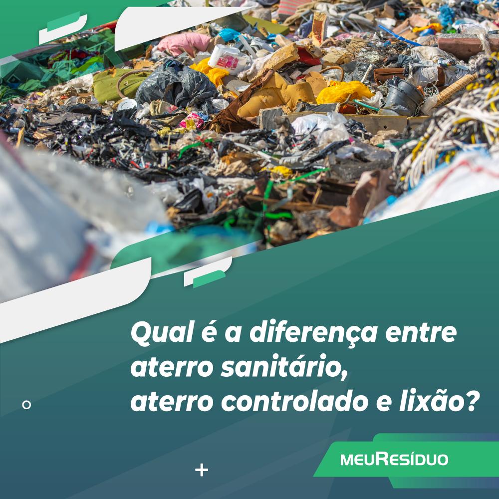 Qual é a diferença entre aterro sanitário, aterro controlado e lixão?