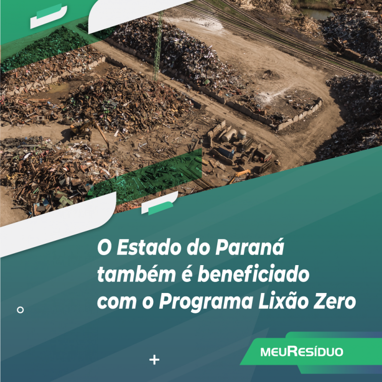 O Estado do Paraná também é beneficiado com o Programa Lixão Zero