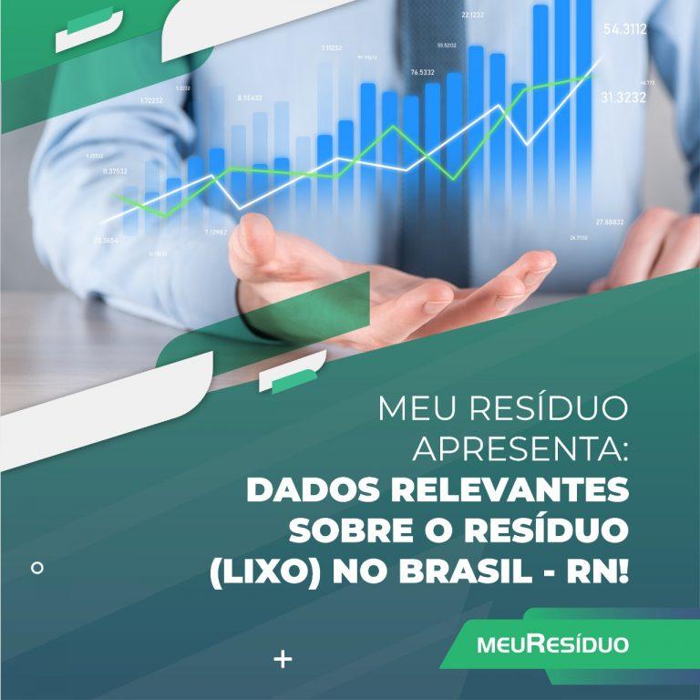 A meuResíduo apresenta: DADOS RELEVANTES SOBRE O RESÍDUO (LIXO) NO BRASIL – RIO GRANDE DO NORTE