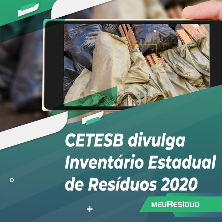 CETESB divulga Inventário Estadual de Resíduos 2020
