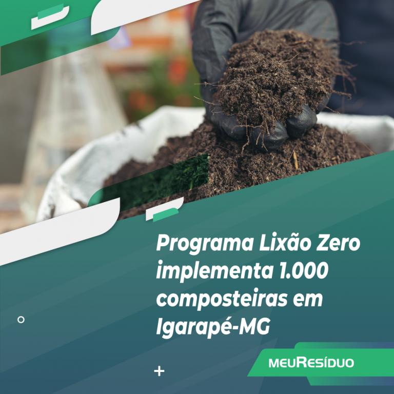 Programa Lixão Zero implementa 1.000 composteiras em Igarapé-MG