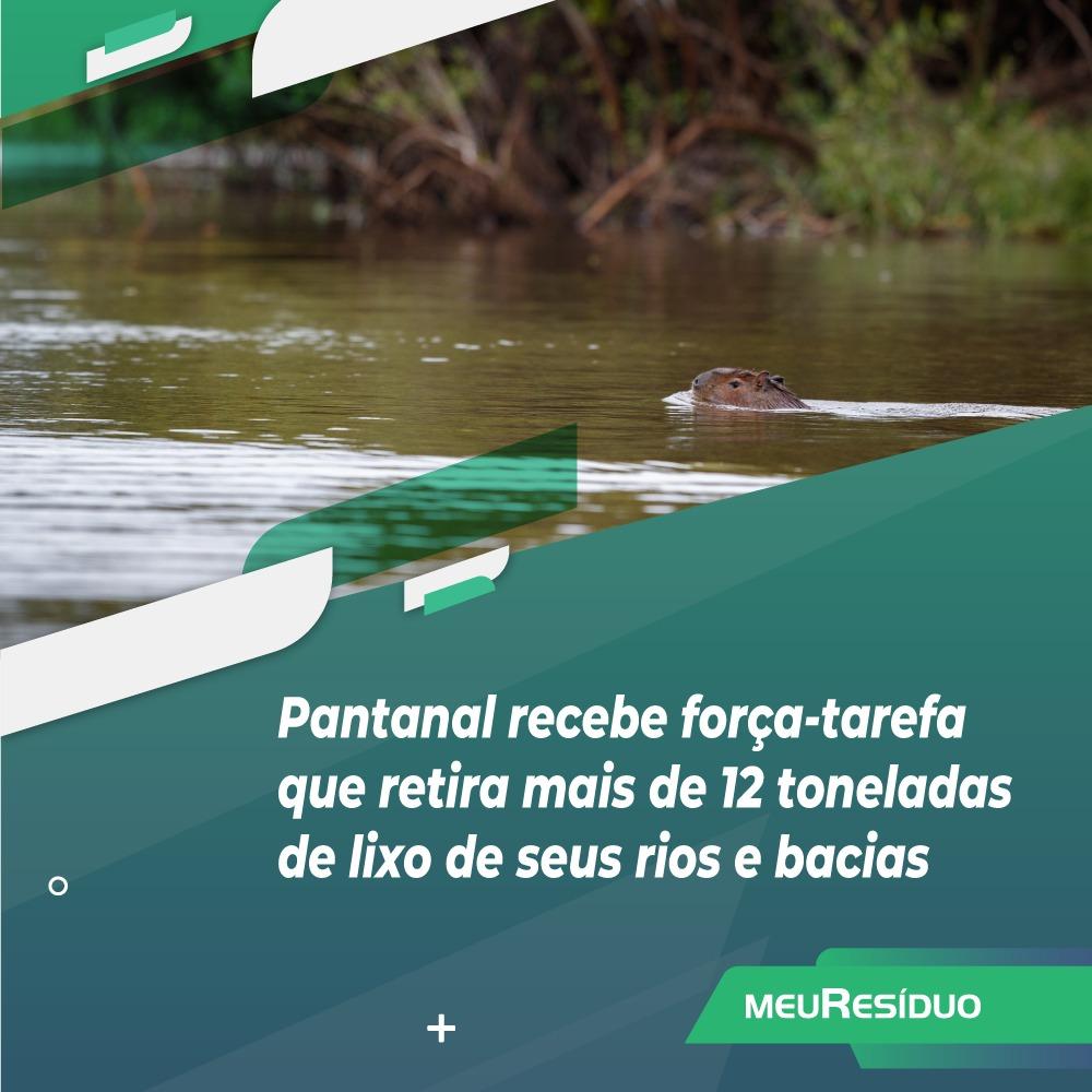 Pantanal recebe força-tarefa que retira mais de 12 toneladas de lixo de seus rios e bacias